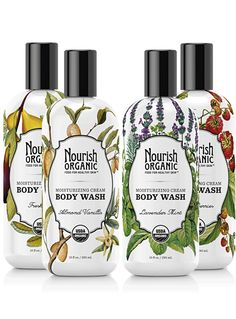 Shop moisturizing cream organic body wash duo set from Nourish Organic in our fashion directory. Flower Packaging, Soap Packaging, Print Packaging, Beauty Packaging, Cosmetic Packaging, Packaging Design, Product Packaging, Organic Body Wash, Organic Skin Care