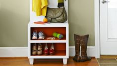 DIY this organizer bench for your mudroom.
