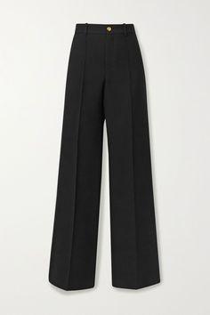 Louboutin Pumps, Christian Louboutin, Black Pant Suit, Black Suits, Gucci Outfits, Fashion Outfits, Saint Laurent Dress, Pantalon Large, Shopping