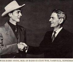 Hank Williams, Sr. & Harry Stone (Mgr. WSM) 45h