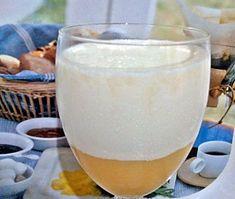 Panna cotta con crema de limón y manzana sin azúcar
