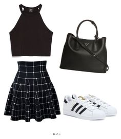 """""""Untitled #297"""" by sophia-solzbacher on Polyvore featuring adidas, Zara and Prada"""