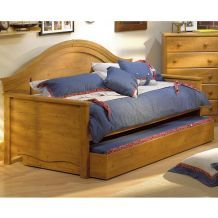 Country Pine Wood Twin Day Bed with Trundle | Overstock.com