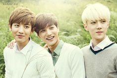 EXO in Nature Republic (Chanyeol, Kai, and Sehun)