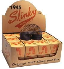 Toys from the past: Slinker invented in 1945 are still available to-day at the Dolls Hopsital, Powerscourt, Dublin 2.