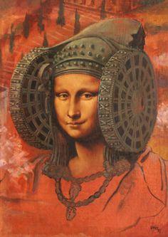 La Gioconda de Elias Urbez Murube -- Oil & acrylic on canvas