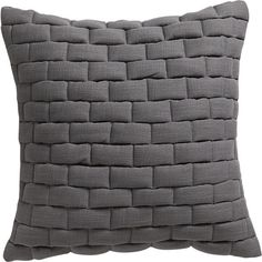"""mason quilted grey 18"""" pillow $49.95 including insert"""