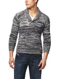 K-Marte Shawl Collar, Cotton Blend Marled Cardigan by Diesel