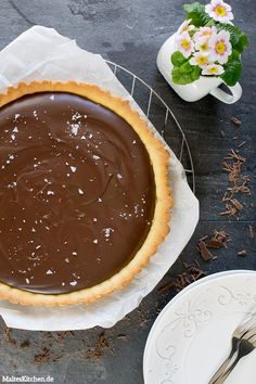 Salzige Schokoladentarte mit Mürbeteigboden | malteskitchen.de