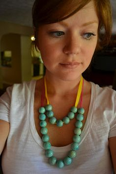 super easy and cheap DIY spring necklace