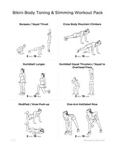 Bikini Body Toning & Slimming Gym Workout Pack for Women
