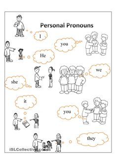 Personal pronouns | FREE ESL  worksheets                                                                                                                                                                                 More