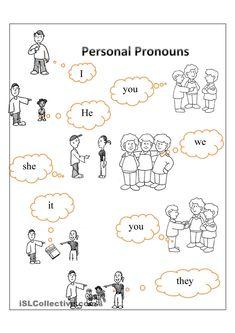 Personal pronouns | FREE ESL  worksheets