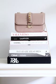 Today on For All Things Lovely: How To: Care for Designer Items - Valentino Lock Medium Shoulder Bag, Fashion books, accessory display