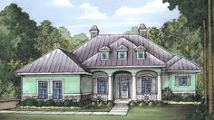 Tropical Delight - 24038BG | 1st Floor Master Suite, Butler Walk-in Pantry, CAD Available, Corner Lot, Den-Office-Library-Study, Florida, Media-Game-Home Theater, PDF, Southern | Architectural Designs