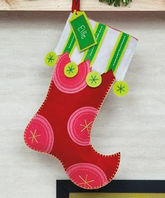 Take a look at this Polka Dot Stocking by Dimensions Needlecrafts on #zulily today!