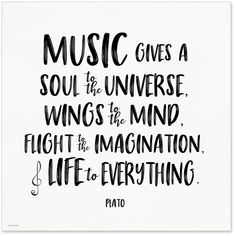 Music Gives a Soul to the Universe Plato Quote Art Print. Fine Art Paper, Laminated, or Framed. Multiple Sizes Available for Home, Office, or School. Art Prints Quotes, Art Quotes, Life Quotes, Quote Art, Qoutes, Inspirational Poetry Quotes, Positive Quotes, Positive Mindset, Quotes Dream