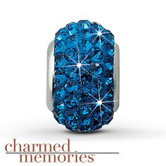 Charmed Memories Swarovski Elements Charm Sterling Silver Stock number: 811365509 This Charmed Memories® charm, featuring royal blue SWAROVSKI ELEMENTS, is crafted in sterling silver.