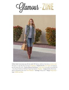 Glamour-Zine blogger styles our Charlie Skinny Jeans in Ford wash with her other favorite fall staples in November 2014.