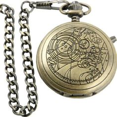 Timelord pocket watch.  My boyfriend got me one for Christmas, And I love it!