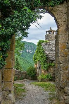 Beautiful Places In France - St-Véran Archway, Midi-Pyrenees, France