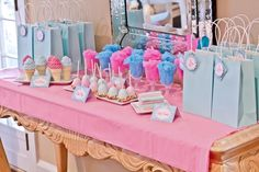 Deserts/gift table - spa party