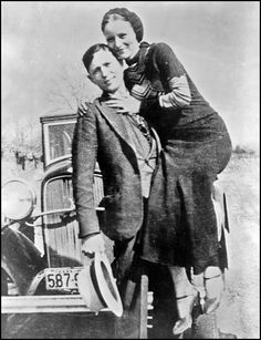 Bonnie & her man Clyde... tho troubled and a bit crazy they had each other and they had love... great idea for a couples costume <3