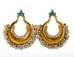 Lovely Firoza chand bali- Indian jewellery -Buy earrings online- The Rainbow Trunk