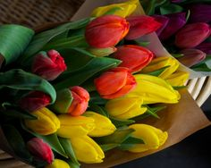 Flower Photography  Spring Tulips at Pike Place by PetitePastiche