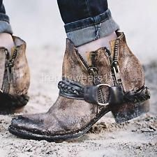 b525e3af77b NWB SZ 8  275 FREEBIRD BY STEVEN CLASH COGNAC DISTRESSED ANKLE BOOTS Ankle