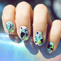 Splatter paint nails! www.cultcosmetics.com/products/teen-spirit