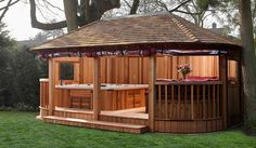 Make your garden the ultimate place to relax with a Garden Spa from Crown Pavilions. We are specialists in designing outdoor spa garden rooms and gazebos.
