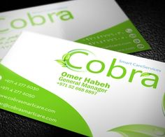 Sentiments business card business card designs in dubai cobra smart care services business card advertising agencybranding colourmoves
