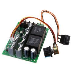 DC 10-50V 12/24/48V 60A PWM DC Motor Speed Controller CW CCW Reversible Switch