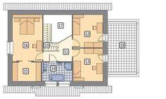 Rzut poddasza POW. 90,8 m²