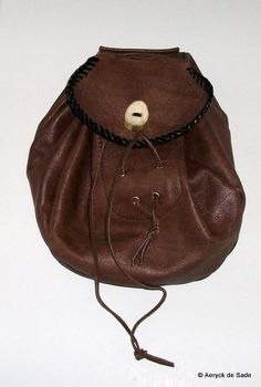 Genuine Leather Sporran Belt Pouch Bag SCA LARP by AeryckdeSade, $65.00
