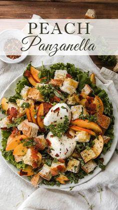 Salad Recipes With Bacon, Summer Salad Recipes, Salad Dressing Recipes, Bacon Recipes, Healthy Salad Recipes, Summer Salads, Lunch Recipes, Easy Dinner Recipes, Cooking Recipes