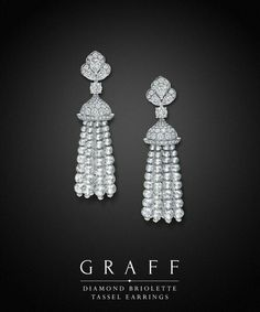 Discover the world of Graff. Home to fine diamonds and gems of unparalleled rarity, perfection and unrivalled beauty. Graff Jewelry, Tassel Jewelry, High Jewelry, Tassel Earrings, Luxury Jewelry, Jewelry Box, Jewellery, Diamond Earing, Diamond Jewelry
