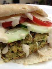 ... My Family: Grilled Chickpea Burgers With Creamy Lemon Tahini Sauce