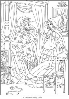 dover coloring book famous fairy tales - Google Search
