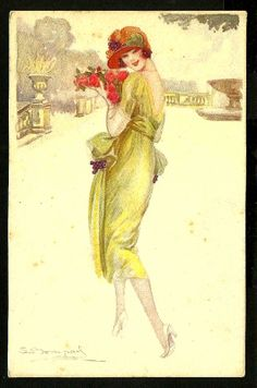 S Bompard Lady Postcard | eBay