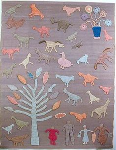 """Granny Donaldson Figural Blanket most beautiful & moving not drawn """"well"""" or realistically"""