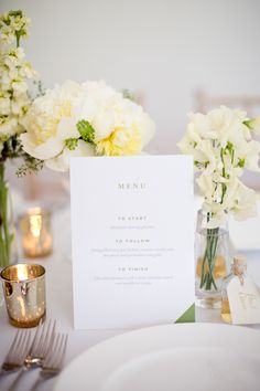 #menu  Photography: Caught The Light - caughtthelight.com  Read More: http://www.stylemepretty.com/2014/07/29/chic-summer-wedding-in-london/