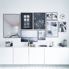 Repost @theposterclub Inspiration déco #noiretblanc #architecture…