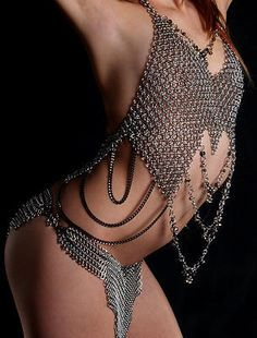 Chainmail Fashion on Pinterest | Chainmaille, Chain Mail and ...