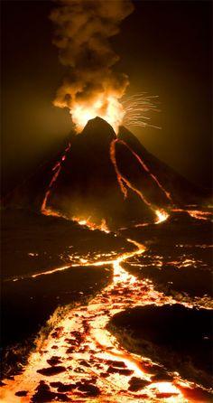 Volcano, Fire Lit Lava