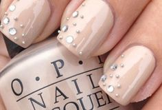 Studded Gel Nail Art Design | See more at http://www.nailsss.com/colorful-nail-designs/4/