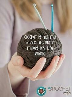 Crochet for anxiety Knitting Quotes, Knitting Humor, Crochet Humor, Funny Crochet, Crochet Yarn, Crochet Stitches, Crochet 101, Crochet Ideas, Knitting Patterns