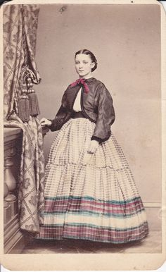 A hand tinted 1860s CDV by T. M. Reger of Philadelphia