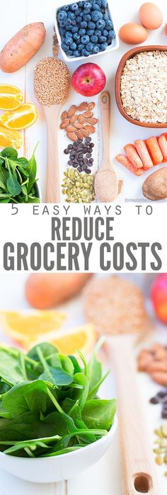 Here are 5 Fail-Proof Ways to Reduce Grocery Spending and still eat healthy! Learn about how meal planning and paying with cash can help you save on food! Budget Freezer Meals, Frugal Meals, Quick Meals, Real Food Recipes, Diet Recipes, Food Cost, Save On Foods, Easy Diet Plan, Money Saving Meals